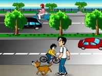 Điều 32: Người điều khiển, dẫn dắt súc vật đi trên đường bộ